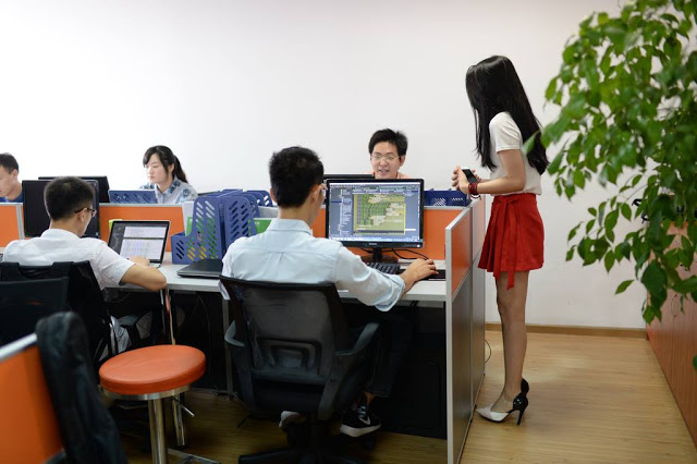 cheerleaders for the office chinese companies hire pretty women to