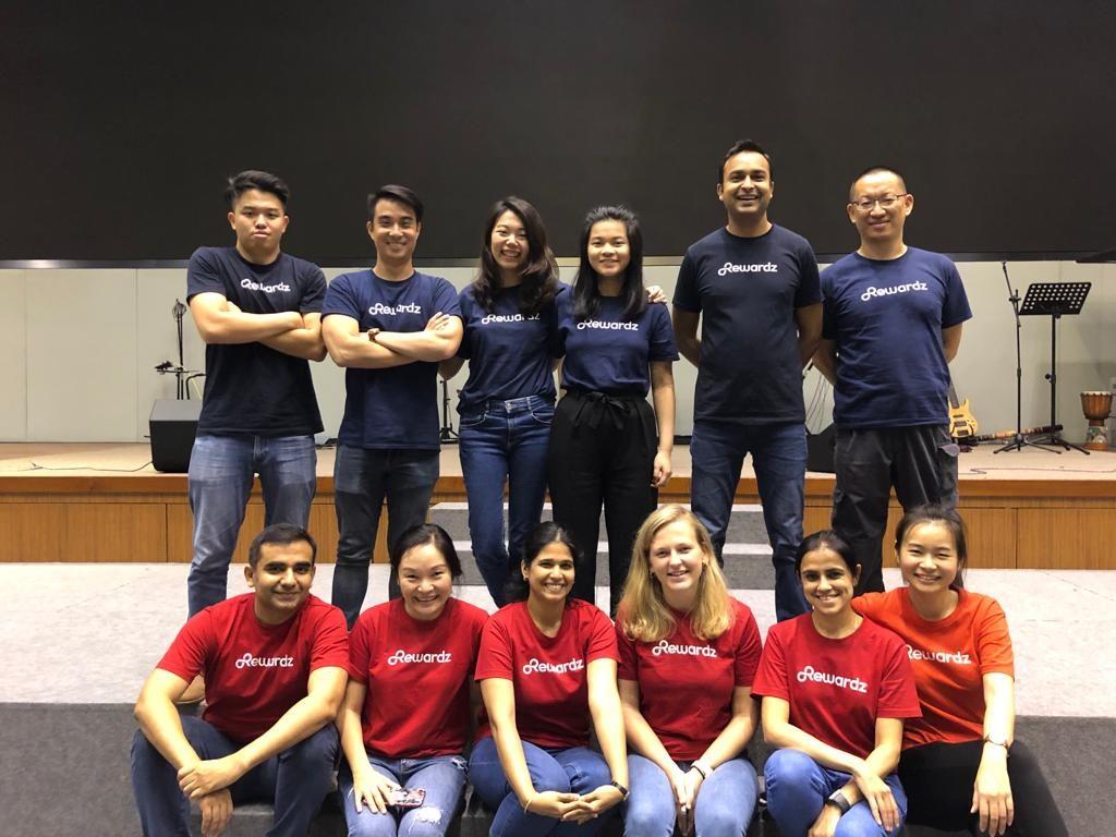 Rewardz team at a pre-covid volunteer event